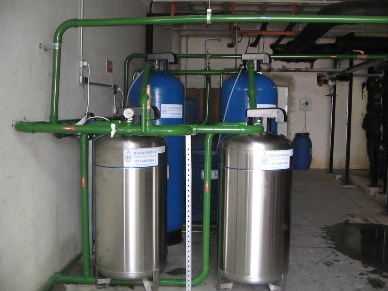 Filtro abrandador de água dura