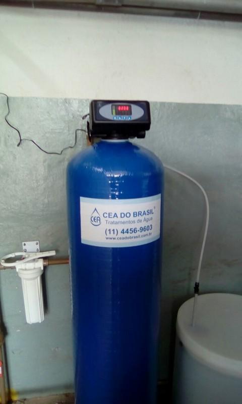 Filtro para dureza de água