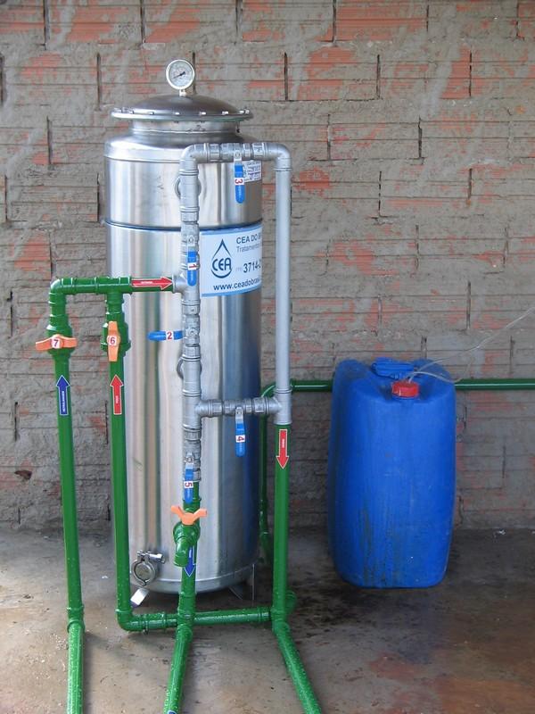Filtro para tratamento de água com ferro
