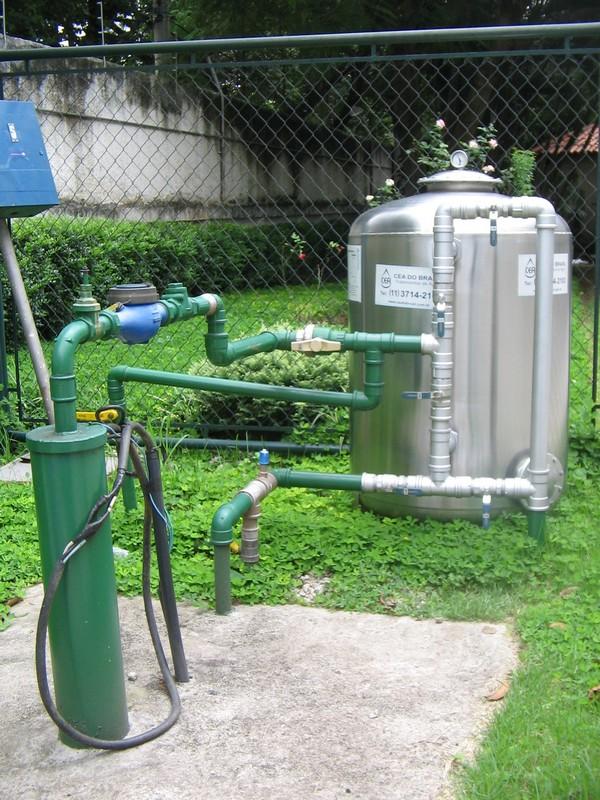 Estação de tratamento de água de poço artesiano